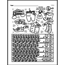 First Grade Money Math Worksheets - Adding Groups of Coins Worksheet #21