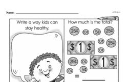 First Grade Money Math Worksheets - Adding Money Worksheet #12