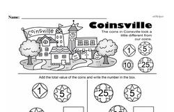 First Grade Money Math Worksheets - Adding Money Worksheet #14