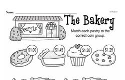 First Grade Money Math Worksheets - Adding Money Worksheet #8