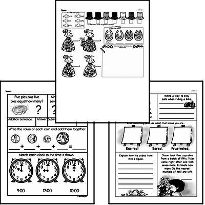 Money Math - Dimes Workbook (all teacher worksheets - large PDF)