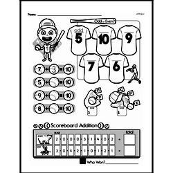 Money Math - Dollars Mixed Math PDF Workbook for First Graders