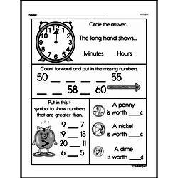First Grade Money Math Worksheets - Pennies Worksheet #9