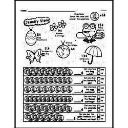 First Grade Money Math Worksheets - Pennies Worksheet #3