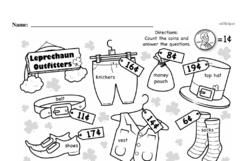 First Grade Money Math Worksheets - Pennies Worksheet #8