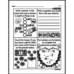 First Grade Money Math Worksheets - Subtracting Money Worksheet #1