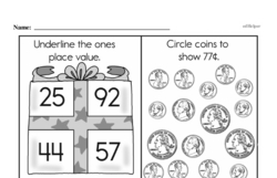 Free First Grade Money Math PDF Worksheets Worksheet #3