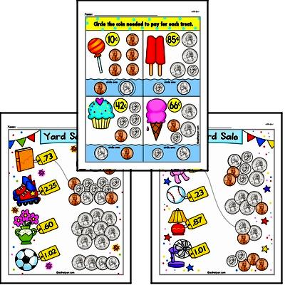 First Grade Money Math Worksheets Worksheet #2