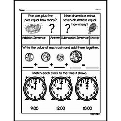 Free First Grade Money Math PDF Worksheets Worksheet #20