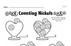 Free First Grade Money Math PDF Worksheets Worksheet #9