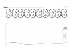 Free First Grade Number Sense PDF Worksheets Worksheet #84