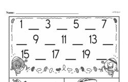 Free First Grade Number Sense PDF Worksheets Worksheet #82