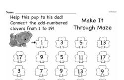 Free First Grade Number Sense PDF Worksheets Worksheet #14