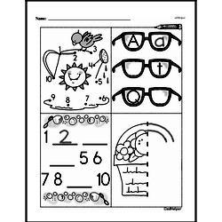 Free First Grade Number Sense PDF Worksheets Worksheet #101