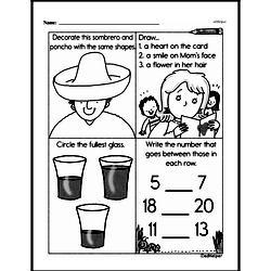 Free First Grade Number Sense PDF Worksheets Worksheet #103