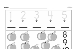 Free First Grade Number Sense PDF Worksheets Worksheet #19