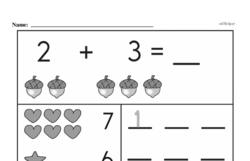 Free First Grade Number Sense PDF Worksheets Worksheet #44