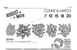Free First Grade Number Sense PDF Worksheets Worksheet #73