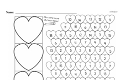 Free First Grade Number Sense PDF Worksheets Worksheet #52