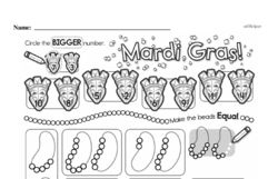 Free First Grade Number Sense PDF Worksheets Worksheet #89