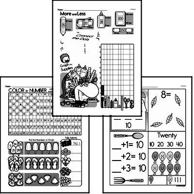 Number Sense - Numbers 11-20 Workbook (all teacher worksheets - large PDF)