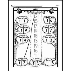Free First Grade Number Sense PDF Worksheets Worksheet #68