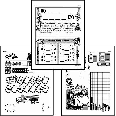 Number Sense - Powers of Ten Workbook (all teacher worksheets - large PDF)