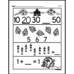 Free First Grade Number Sense PDF Worksheets Worksheet #12