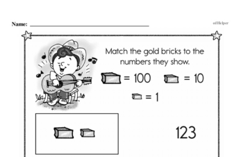 Number Sense - Three-Digit Numbers Workbook (all teacher worksheets - large PDF)