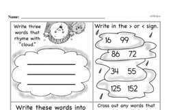 Free First Grade Number Sense PDF Worksheets Worksheet #87