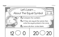 Free First Grade Number Sense PDF Worksheets Worksheet #78