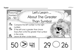 Free First Grade Number Sense PDF Worksheets Worksheet #48