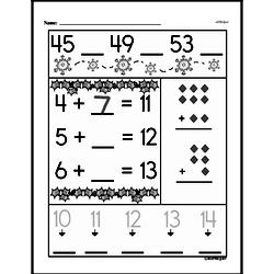 Free First Grade Number Sense PDF Worksheets Worksheet #21