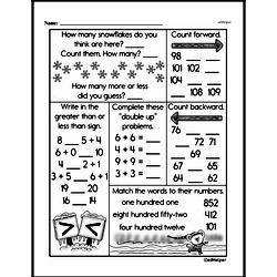 Free First Grade Number Sense PDF Worksheets Worksheet #19