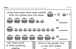 Free First Grade Number Sense PDF Worksheets Worksheet #84