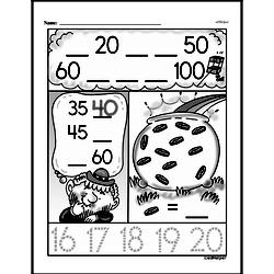 Free First Grade Number Sense PDF Worksheets Worksheet #60