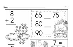 Free First Grade Number Sense PDF Worksheets Worksheet #18