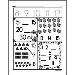 Free First Grade Number Sense PDF Worksheets Worksheet #70