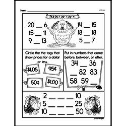 Free First Grade Number Sense PDF Worksheets Worksheet #62
