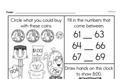 Free First Grade Number Sense PDF Worksheets Worksheet #92