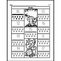 Free First Grade Number Sense PDF Worksheets Worksheet #7