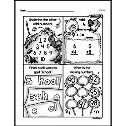 Free First Grade Number Sense PDF Worksheets Worksheet #83