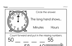 Free First Grade Number Sense PDF Worksheets Worksheet #90