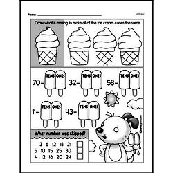 Free First Grade Number Sense PDF Worksheets Worksheet #73