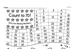 Free First Grade Number Sense PDF Worksheets Worksheet #43