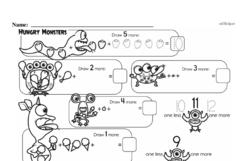 Free First Grade Number Sense PDF Worksheets Worksheet #69