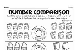 Free First Grade Number Sense PDF Worksheets Worksheet #70