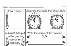 Free First Grade Number Sense PDF Worksheets Worksheet #164