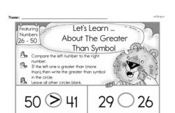 Free First Grade Number Sense PDF Worksheets Worksheet #211