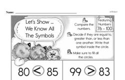 Free First Grade Number Sense PDF Worksheets Worksheet #194